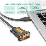 UGREEN Câble Série USB avec Chip PL2303 Câble USB 2.0 vers RS232 DB9 Mâle à Mâle pour Windows 10 8.1 8 7 Vista XP, Mac OS, Linux et Chrome OS, Connectiques Dorées de la marque UGREEN image 2 produit