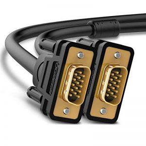 UGREEN VGA VGA Câble VGA SVGA Mâle vers Mâle 1080P Plaqué Or avec Noyau de Ferrite pour Écran, Moniteur, Projecteur, PC, TV HD, Noir (2 M) de la marque UGREEN image 0 produit