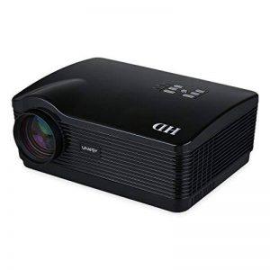 Uhappy H2 Projecteur HD 720P 1280 * 768 Résolution Projecteur Vidéo Sans Fil Vidéoprojecteur WIFI Android HDMI / USB / SD / ATV / AV / VGA Cinéma Maison - Noir de la marque UHAPPY image 0 produit