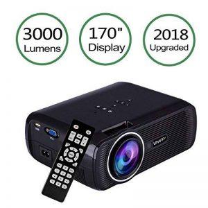 Uhappy U80 LED Mini Vidéo Projecteur, 3000 Lumens Full HD 1080 P Portable Vidéo Projecteur LED Home Cinéma Soutien HDMI VGA USB SD pour PC TV Ordinateur Portable Jeu Smartphone TV Box de la marque TOPRUI image 0 produit