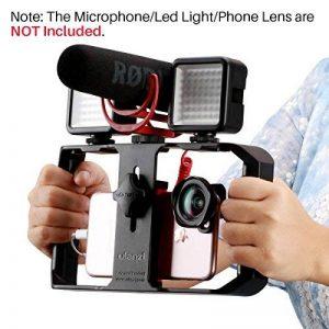 Ulanzi U-rig Pro Smartphone vidéo Rig Handheld iPhone Filmmaking Cage avec 3Sabot Mounts téléphone vidéo Stabilisateur pour vidéoprojecteur Videomaker pour iPhone X 87Plus Samsung Xiaomi de la marque Ulanzi image 0 produit