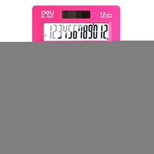 Ultrathin Puissance 12 Calculatrice Double Digits bureau, écran LCD, Rose Rouge de la marque Blancho image 0 produit
