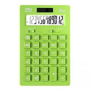Ultrathin Puissance 12 chiffres Calculatrice de bureau double, écran LCD, Vert de la marque Blancho image 0 produit