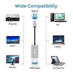 USB 3.0vers HDMI Convertisseur vidéo HD 1080p avec Sortie Audio de Plusieurs moniteurs pour Ordinateur Portable HDTV TV PC avec Windows XP/7/8/8.1/10[No Mac et Vista] argenté de la marque Elecjoy image 4 produit