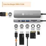 USB C Hub avec Power Delivery 6-en-1 Novoo Adaptateur USB-C vers HDMI 4K, Lecteur de Carte SD & Micro SD, 2 x USB 3.0, Port de Recharge PD 2.0 En Aluminium pour MacBook 12 MacBook Pro ChromeBook Pixel Lenovo Yoga 910 Huawei Matebook, Gris de la marque NOV image 1 produit