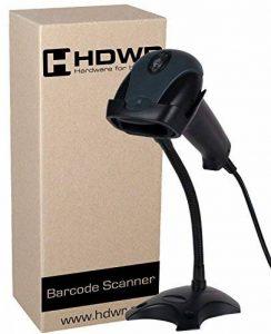 USB Professional automatique lecteur de codes-barres scanner de codes-barres avec un support Noir avancée très rapide, HD29A de la marque HDWR image 0 produit