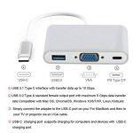 USB Type C à VGA + Adaptateur USB 3.0, FeliSun Mutiport Digtal Convecteur (Port Type C, Port USB 3.0, Port VGA) USB 3.1 Type C Chargeur Rapide Pour Apple MacBook, ChromeBook Pixel Projecteur TV et plus de Type-c Dispositifs - Argent de la marque FeliSun image 4 produit