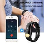 Uten Smartwatch App iOs / Android , Numerique Montre Bluetooth Connecte Tracker d'activite Fitness Bracelet Waterproof Wearable Heart Monitor Sport Odometre de la marque Uten image 3 produit