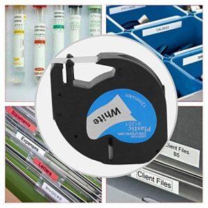 Utilisation personnelle 12 * 4 MM ruban d'étiquette grande stabilité étiquette pratique étiquette étiquette ruban papier adapté pour Dymo LetraTag de la marque lookie image 0 produit