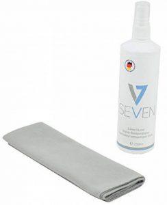 V7 Cleaning Set 2 Pièces pour écrans: Nettoyant 250ml + chiffon en microfibres, adapté à tous les écrans: moniteur, ordinateur portable, tablette PC, TV, Apple iPad, iPod, iPhone, iMac, smartphones, téléphones, projecteurs, écrans, écrans, TV de la marque image 0 produit