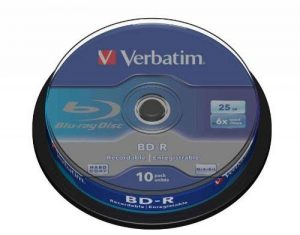 Verbatim 43742 BD-R Single Layer 6x 25 Go Couche protectrice Hard Coat Pack Spindle Blanc/Bleu de la marque VERBATIM image 0 produit