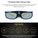 Verres Actifs 3D Lunettes DLP Link Projecteur 3D Projecteur LCD Rechargeable 3D Lunettes de la marque Prom-near image 2 produit