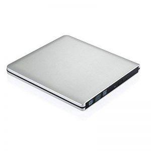 [Version ameliorée] TopElek USB 3.0 Lecteur/Graveur CD/DVD-RW lecteur dvd externe lecteur et enregistreur DVD/CD utra-Slim pour Apple MacBook, Pro, Air, toutes les systèmes Mac OS, Windows XP, Vista,7, 8 Cble USB3.0 fourni–Argent de la marque TOPELEK image 0 produit