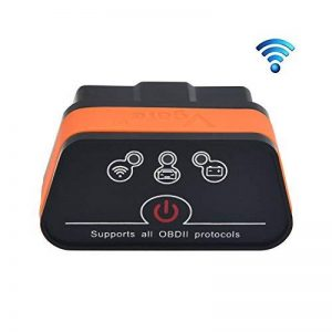 Vgate iCar2 Wi-Fi Scanner OBD2 ELM327 Compatibilité Outils de numérisation Adaptateur d'interface Vérifiez moteur de diagnostic de voiture outil pour iOS iPhone iPad, Android Sleep Auto de la marque Vgate image 0 produit