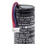 vhbw Li-ION Batterie 1600mAh (3.7V) pour Scanner de Code-Barres Terminal Carte de Crédit et de Débit POS Datalogic QuickScan QBT2400, QBT2430, QBT2X de la marque vhbw image 1 produit