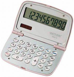 Victor Technology 909-9 Poche Calculatrice basique Chrome, Rose calculatrice - Calculatrices (Poche, Calculatrice basique, 10 chiffres, Affichage inclinable, Batterie/Solaire, Chrome, Rose) de la marque Victor Technology image 0 produit