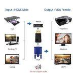 VicTsing Adaptateur HDMI vers VGA Convertisseur Plaqué d'or pour PC, Ultrabook, PC Portable, DVD, PC de Bureau,Intel Nuc, Chromebook, Roku Streaming Media Player, et d'autres Appareils avec Port HDMI de la marque VICTSING image 1 produit