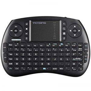 VICTSING Mini Clavier sans Fil 2.4G Multifonctionnel 92 Touches, Pavé Tactile de Sensibilité Elevée PC, HTPC, X-Box, boîte TV Android, Google TV Box, etc de la marque VICTSING image 0 produit
