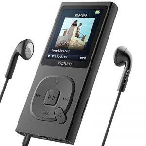 Victure Lecteur MP3 en Metal 100H Lecteur Musique Portable 8Go avec Radio FM, 1.8 TFT Écran, Enregistreur Vocal, Supporte carte SD jusqu'à 64Go de la marque Victure image 0 produit