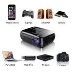 Video Projecteur, FUJSU 3300 Lumens HD LED LCD Projecteurs 1080P HDMI USB VGA Carte mémoire SD AV pour les présentations de bureau sur PowerPoint et pour Home Cinema Projecteur de bureau avec une grande luminosité avec un stylo PowerPoint sans fil pour Té image 4 produit