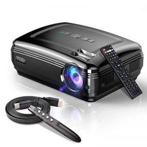Video Projecteur, FUJSU 3300 Lumens HD LED LCD Projecteurs 1080P HDMI USB VGA Carte mémoire SD AV pour les présentations de bureau sur PowerPoint et pour Home Cinema Projecteur de bureau avec une grande luminosité avec un stylo PowerPoint sans fil pour Té image 0 produit