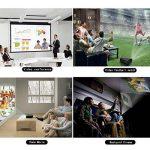 Video Projecteur, FUJSU 3300 Lumens HD LED LCD Projecteurs 1080P HDMI USB VGA Carte mémoire SD AV pour les présentations de bureau sur PowerPoint et pour Home Cinema Projecteur de bureau avec une grande luminosité avec un stylo PowerPoint sans fil pour Té image 1 produit