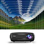 Video Projecteur, FUJSU 3300 Lumens HD LED LCD Projecteurs 1080P HDMI USB VGA Carte mémoire SD AV pour les présentations de bureau sur PowerPoint et pour Home Cinema Projecteur de bureau avec une grande luminosité avec un stylo PowerPoint sans fil pour Té image 2 produit