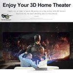 Videoprojecteur, 1280x800 3D DLP-Link Android LED Projecteur avec Lunettes 3D Gratuites, 3800 Lumens, Soutien 1080P Full HD, Partage d'écran Wifi pour iPhone iPad Android, HDMI/USB/TF, Keystone Correction V5 de la marque TOUMEI image 1 produit