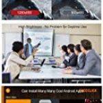 Videoprojecteur, 1280x800 3D DLP-Link Android LED Projecteur avec Lunettes 3D Gratuites, 3800 Lumens, Soutien 1080P Full HD, Partage d'écran Wifi pour iPhone iPad Android, HDMI/USB/TF, Keystone Correction V5 de la marque TOUMEI image 2 produit