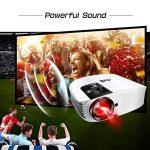 Videoprojecteur Full HD, Artlii Projecteur HD Portable, Supporte Le 1080p, 3D, Compatible Clé USB, iPhone, PC, Laptop Regarder Football, NBA, Roland Garros de la marque image 2 produit