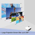 Videoprojecteur Full HD, Artlii Projecteur HD Portable, Supporte Le 1080p, 3D, Compatible Clé USB, iPhone, PC, Laptop Regarder Football, NBA, Roland Garros de la marque image 4 produit