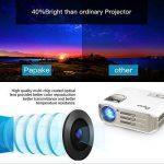 Vidéoprojecteur Full HD,Papake Retroprojecteur 1080P HD 3200 Lumens Retroprojecteur LED Portable Résolution Soutenir 1280 X 800 HDMI/VGA/USB/TV/AV/Xbox Jeux Multimédia intérieur et extérieur Cinéma … de la marque Papake image 3 produit