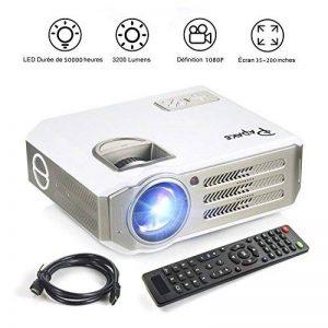 Vidéoprojecteur Full HD,Papake Retroprojecteur 1080P HD 3200 Lumens Retroprojecteur LED Portable Résolution Soutenir 1280 X 800 HDMI/VGA/USB/TV/AV/Xbox Jeux Multimédia intérieur et extérieur Cinéma … de la marque Papake image 0 produit