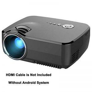 Videoprojecteur LED, Honyi 800 * 480 Pixels 1200 Lumens Videoprojecteur pour Portable Intégré Tuner TV Analogue HDMI Projecteur Multimédia Videoprojecteur pour Home Cinéma, PS2 / PS3 / XBOX Jeux, Iphone, Ipad avec HDMI / USB / AV / SD / VGA Port (Noir) de image 0 produit