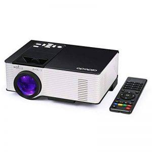 Vidéoprojecteur, OMAS Full HD 1080P 1800 Lumens LED Mini LCD Projecteur de Cinéma Privé, Rétroprojecteur Portable avec Support HDMI / VGA / AV / 1 Port USB PC Ordinateur Xbox TV de la marque image 0 produit