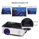 Vidéoprojecteur, OMAS Full HD 1080P 1800 Lumens LED Mini LCD Projecteur de Cinéma Privé, Rétroprojecteur Portable avec Support HDMI / VGA / AV / 1 Port USB PC Ordinateur Xbox TV de la marque image 3 produit