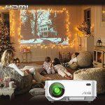 Videoprojecteur Portable, ARTLII Retroprojecteur 2000 Lumens LED HD 1080p Projecteurs pour Jeu Video Photos Films (Blanc) de la marque Artlii image 1 produit