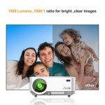 Videoprojecteur Portable, ARTLII Retroprojecteur 2000 Lumens LED HD 1080p Projecteurs pour Jeu Video Photos Films (Blanc) de la marque image 2 produit