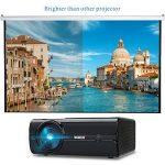 Vidéoprojecteur, WiMiUS T8 Mini Projecteur HD Portable Retroprojecteur LED 2000 Lumens Support 1080P Projector LCD Home Cinéma Compatible avec Interfaces HDMI USB VGA AV SD for PC PS3 PS4 Xbox TV Boite de la marque WiMiUS image 3 produit