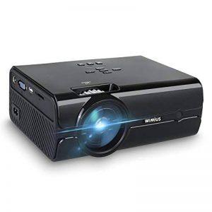 Vidéoprojecteur, WiMiUS T8 Mini Projecteur HD Portable Retroprojecteur LED 2000 Lumens Support 1080P Projector LCD Home Cinéma Compatible avec Interfaces HDMI USB VGA AV SD for PC PS3 PS4 Xbox TV Boite de la marque WiMiUS image 0 produit