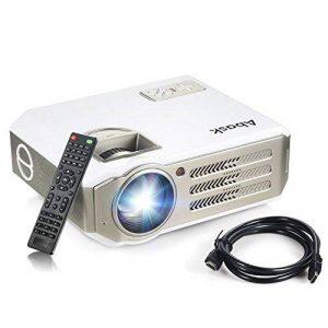 Vidéoprojecteur, Abask 1080P HD 3100 Lumens LCD Portable Théâtre Domestique Multimédia , Soutenir HDMI, USB, AV, VGA, pour le TV,/Xbox/Jeux Video/ HD Vidéo Entrées Cinéma Privé Divertissements à Domicile de la marque Abask image 0 produit