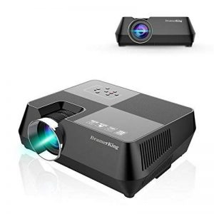 Vidéoprojecteur, BeamerKing Projecteur de Cinéma à Domicile Le Vidéoprojecteur LED Portable de 2200 Lumens Prend En Charge Le Format Full HD 1080P HDMI USB VGA AV for Laptop iPhone Andriod Smartphone PS4 Xbox TV Box de la marque Beamerking image 0 produit
