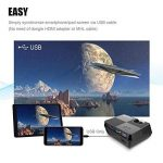 Vidéoprojecteur, BeamerKing Projecteur de Cinéma à Domicile Le Vidéoprojecteur LED Portable de 2200 Lumens Prend En Charge Le Format Full HD 1080P HDMI USB VGA AV for Laptop iPhone Andriod Smartphone PS4 Xbox TV Box de la marque Beamerking image 2 produit