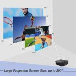 Vidéoprojecteur Full HD, Artlii Rétroprojecteur 3500 Lumens, Supporte Le 1080p, Compatible Clé USB, iPhone, PC, Laptop Regarder Football, NBA, Roland Garros de la marque Artlii image 2 produit