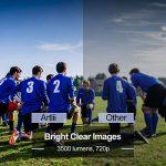 Vidéoprojecteur Full HD, Artlii Rétroprojecteur 3500 Lumens, Supporte Le 1080p, Compatible Clé USB, iPhone, PC, Laptop Regarder Football, NBA, Roland Garros de la marque image 3 produit