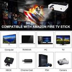 Vidéoprojecteur Full HD,GEARGO 2800 Lumens Projecteur Portable,185 écran de projection, Supporte 1080p, Compatible avec Amazon Fire TV Stick / Ordinateur portable / SD / XBOX / iPad iPhone/ Android pour Home Cinéma de la marque GEARGO image 4 produit
