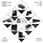 Vidéoprojecteur HD, ELEPHAS Projecteur 1080P HD 3500 Lumens projecteur LED Supporte VGA HDMI AV USB Micro SD, Ordinateur Portable, Smartphone, Projecteur pour Séries TV Jeux Video Photos Films Match de Football, Blanc de la marque ELEPHAS image 3 produit
