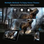 Vidéoprojecteur HD, ExquizOn P8I Mini Vidéoprojecteur DLP Android 7.1 1G RAM + 8G ROM Projecteur Intelligent 100 ANSI Lumens 854 * 480 Soutien WiFi Bluetooth 4.0 1080P avec 2 * USB HDMI TF Interfaces Batterie Intégrée pour Home Cinéma de la marque ExquizO image 2 produit