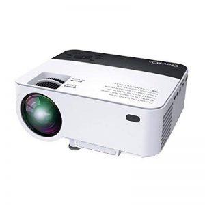 Vidéoprojecteur HD, ExquizOn T5 Pico Projecteur Soutien HD 1080P Rétroprojecteur pour Home Cinéma et Jeu Vidéo (Blanc) de la marque ExquizOn image 0 produit