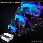 Vidéoprojecteur HD, ExquizOn T5 Pico Projecteur Soutien HD 1080P Rétroprojecteur pour Home Cinéma et Jeu Vidéo (Blanc) de la marque ExquizOn image 4 produit